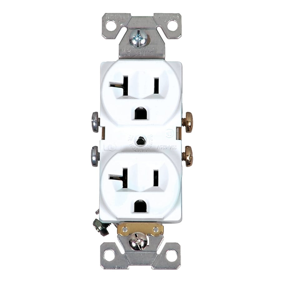 Shop Cooper Wiring Devices 20-Amp White Duplex Electrical Outlet at ...