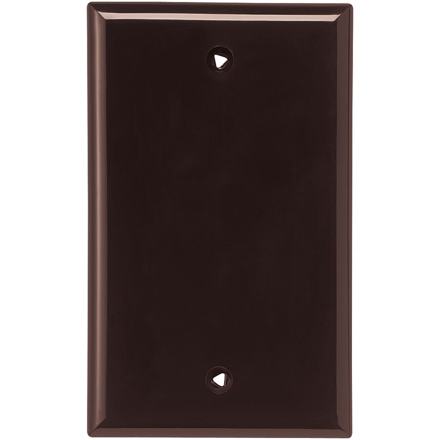 Eaton 1-Gang Brown Single Blank Wall Plate