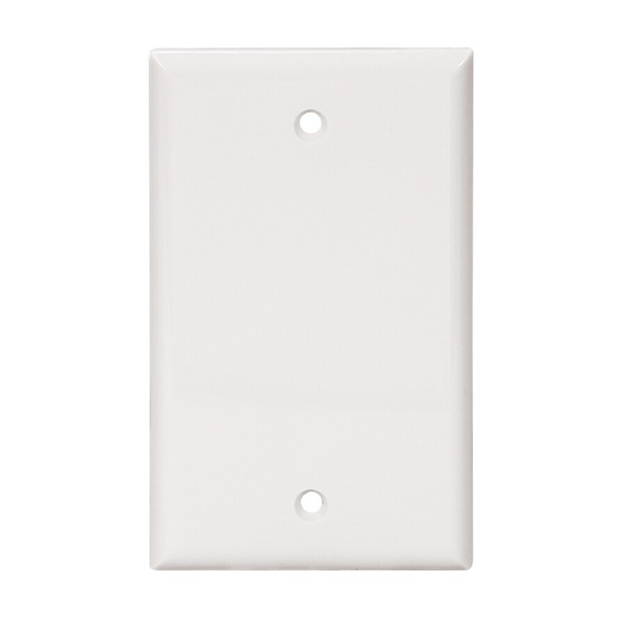 Shop Cooper Wiring Devices 1 Gang White Blank Wall Plate At A Light Switch