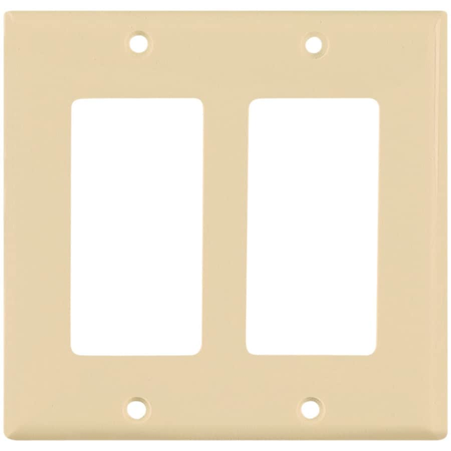 Eaton 2-Gang Ivory Decorator Wall Plate