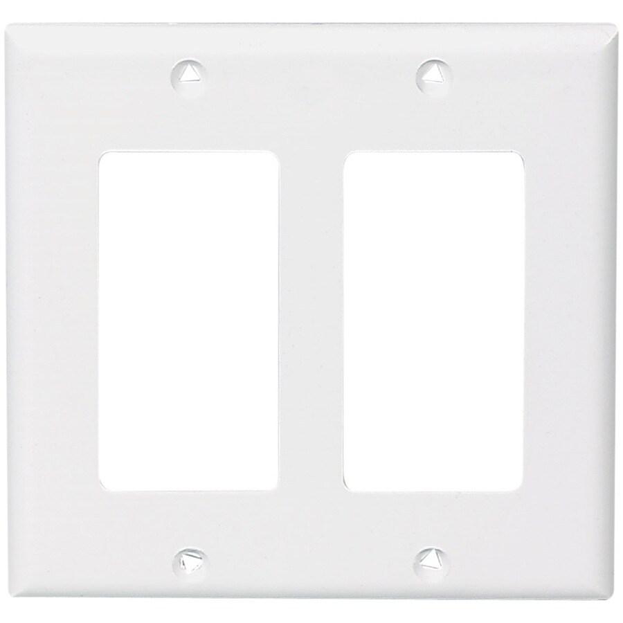 Eaton 2-Gang White Decorator Wall Plate