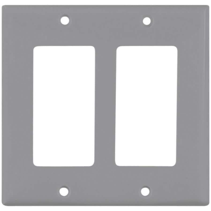 Eaton 2-Gang Gray Decorator Wall Plate