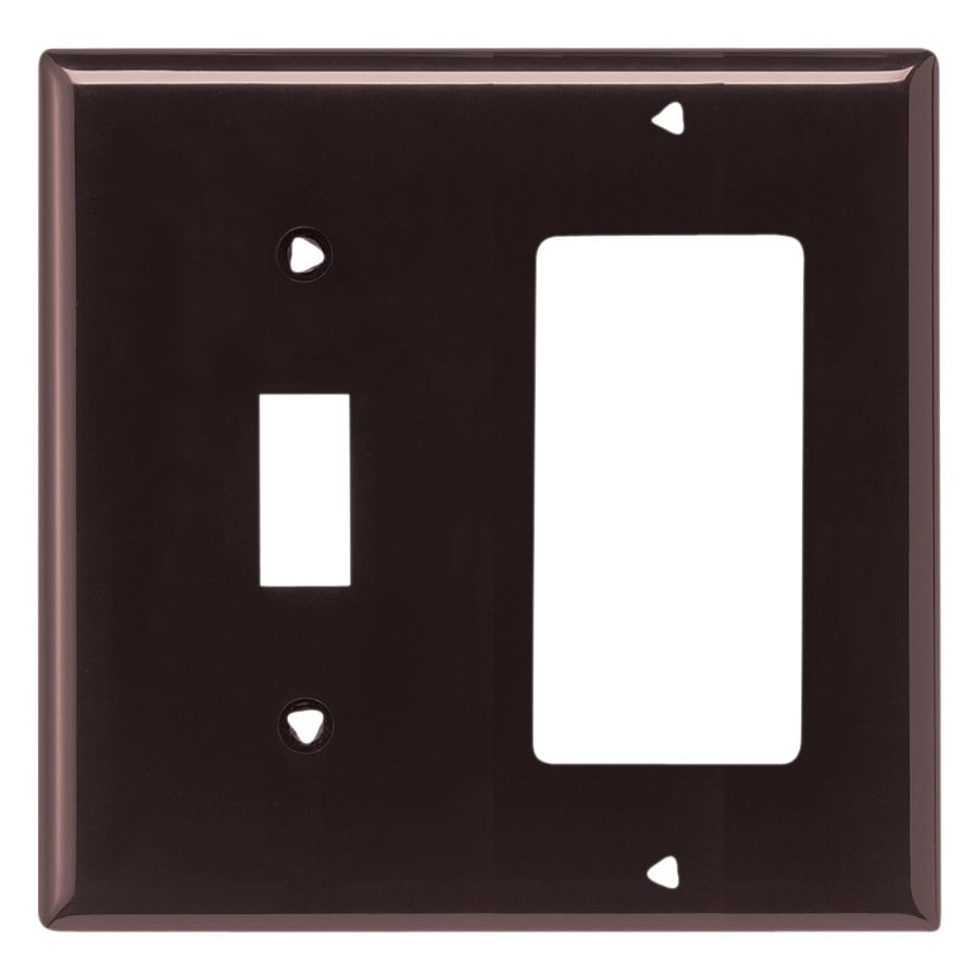 Eaton 2-Gang Brown Wall Plate