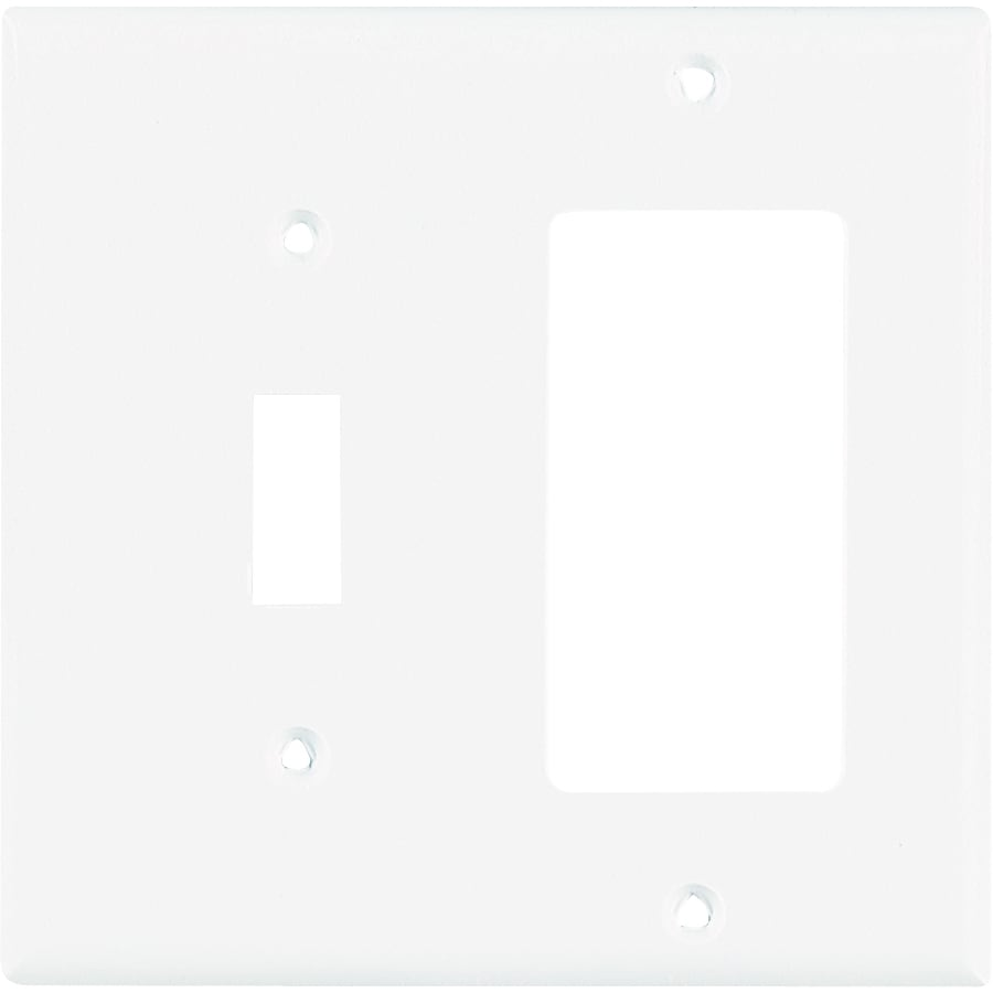Eaton 2-Gang White Wall Plate