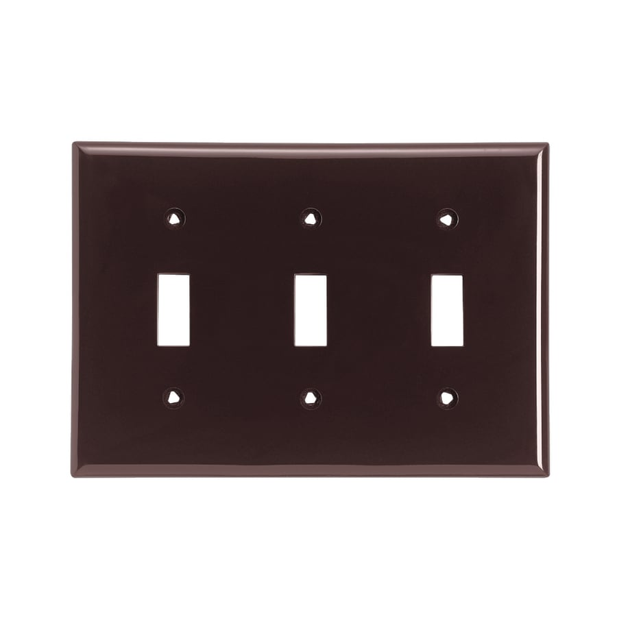 Cooper Wiring Devices 3-Gang Brown Toggle Wall Plate