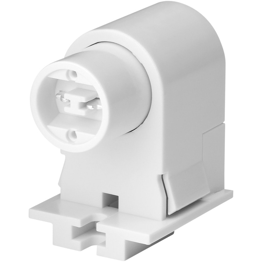 Eaton White Recessed Fluorescent Plunger Lamp Holder