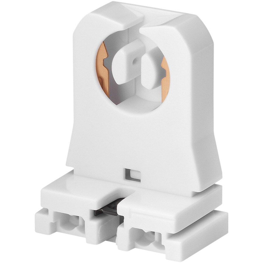 Eaton White Short Fluorescent Lamp Holder