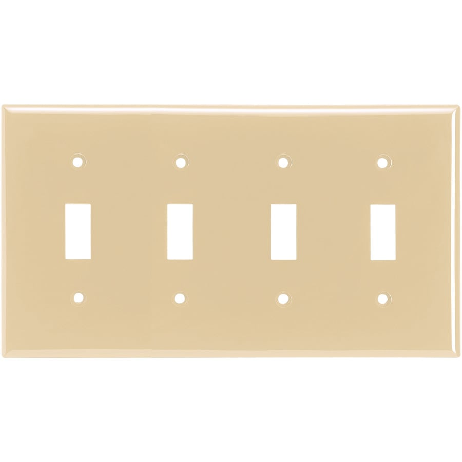 Eaton 4-Gang Ivory Toggle Wall Plate