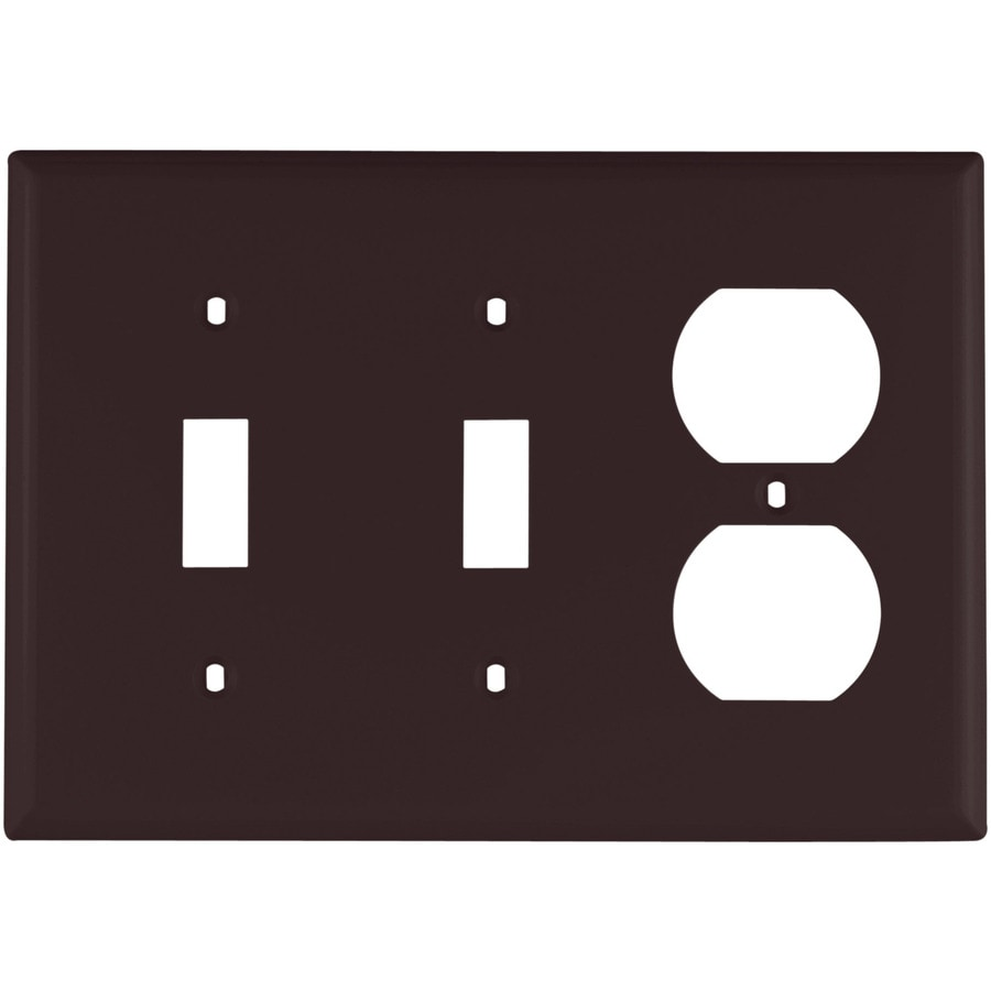 Eaton 3-Gang Brown Wall Plate