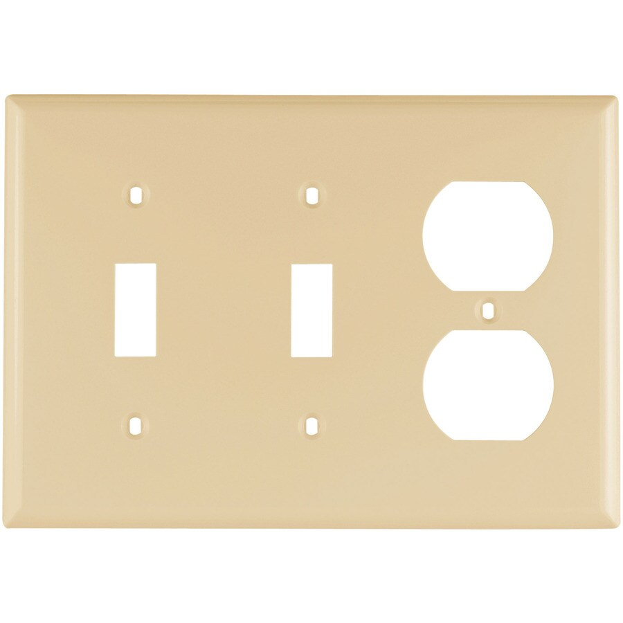 Eaton 3 Gang Ivory Wall Plate At Lowescom