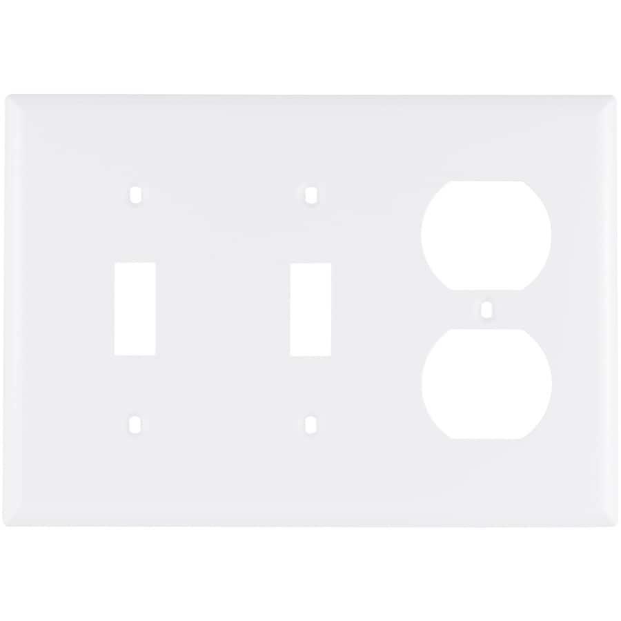 Eaton 3-Gang White Wall Plate