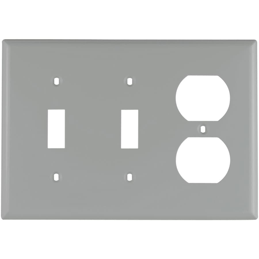 Eaton 3-Gang Gray Wall Plate