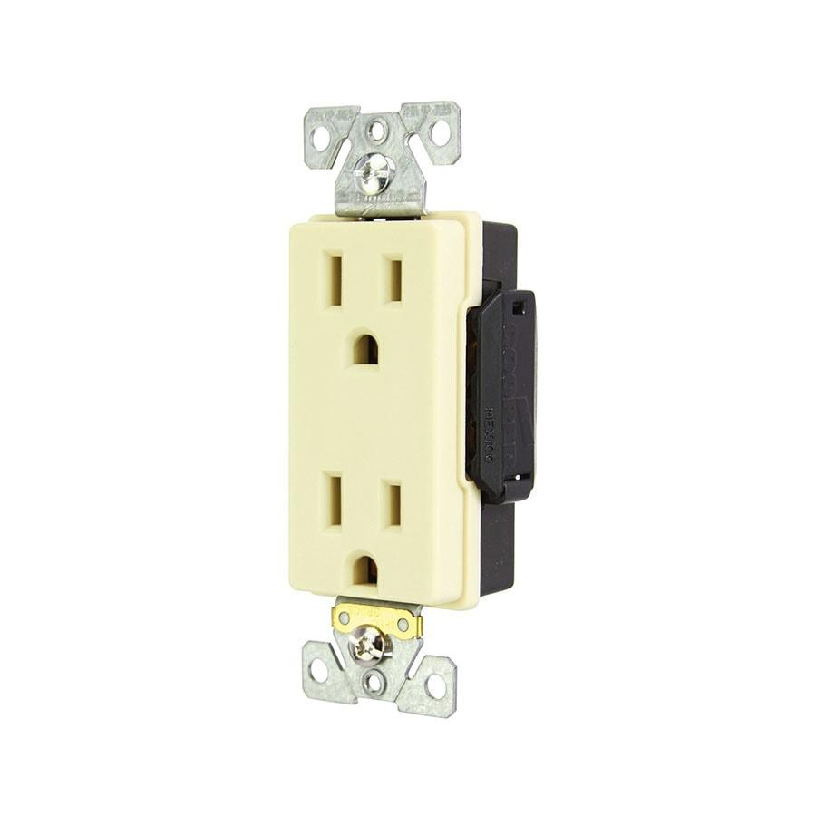 Eaton 15-Amp 125-Volt Ivory Duplex