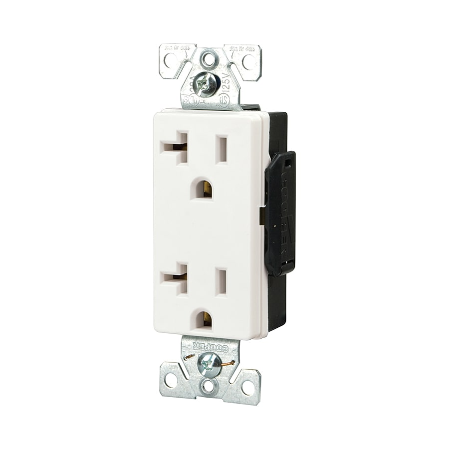 Cooper Wiring Devices 20-Amp 125-Volt White Duplex Electrical Outlet