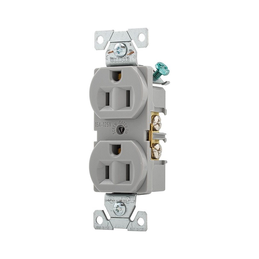 Cooper Wiring Devices 15-Amp 125-Volt Gray Duplex