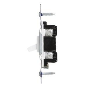 Eaton 15-Amp Single-pole White Toggle Residential Light