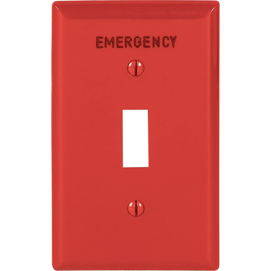 Eaton 1-Gang Red Toggle Wall Plate