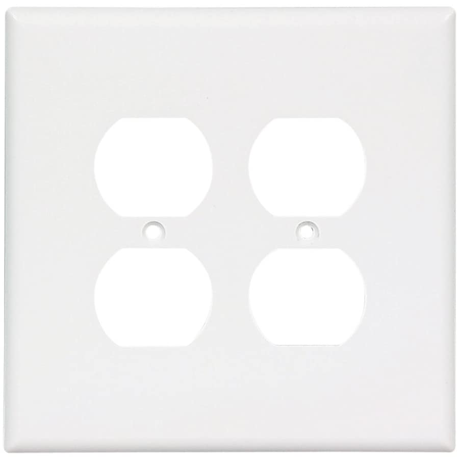 Eaton 2-Gang White Round Wall Plate