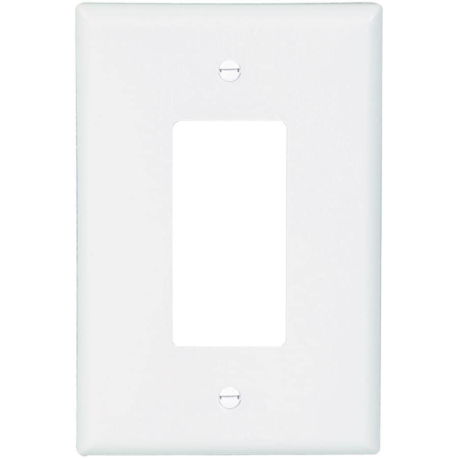 Eaton 1-Gang White Single Decorator Wall Plate