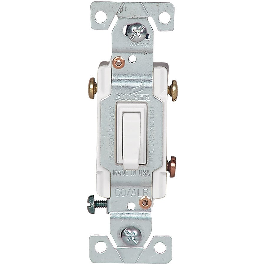 Eaton 15-amp Single Pole 3-way White Toggle Indoor Light Switch