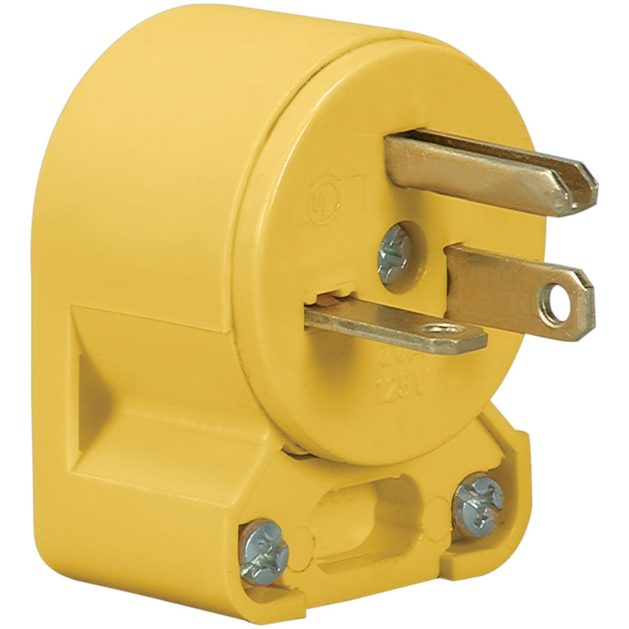 Shop Eaton 20-Amp 125-Volt Yellow 3-Wire Grounding Plug at Lowes.com