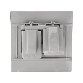 Eaton Non Metallic Gray 2 Outlet Weatherproof Electrical Cover
