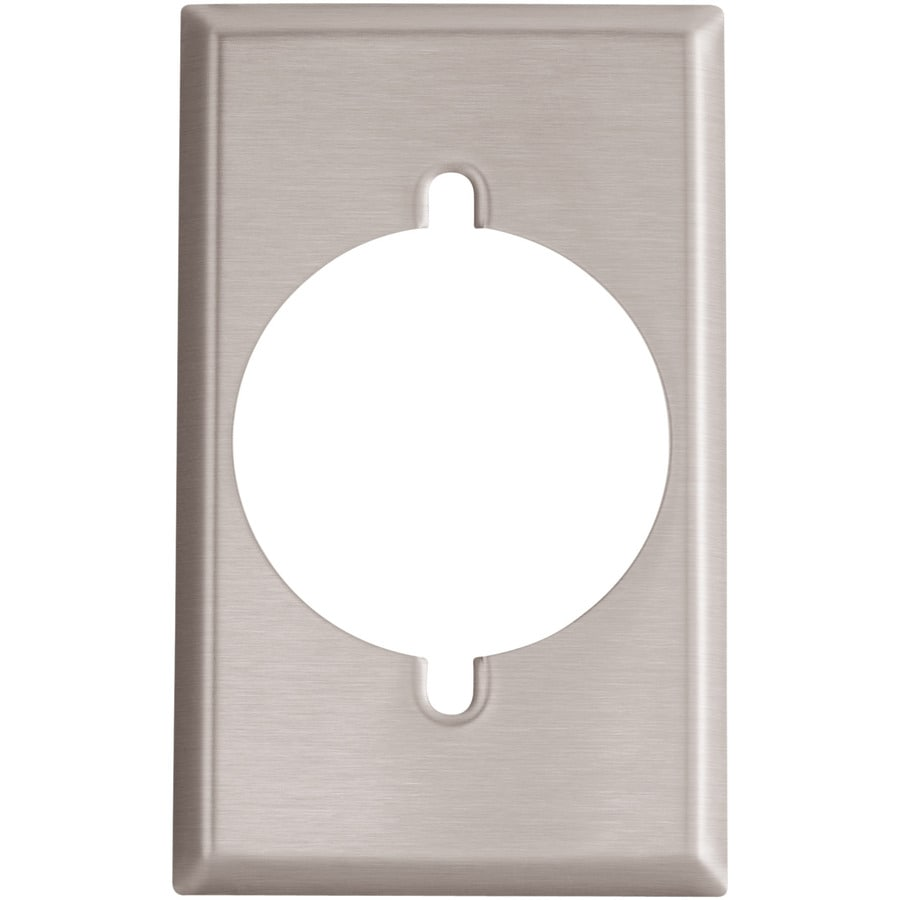 Eaton 1-Gang Stainless Steel Single Round Wall Plate
