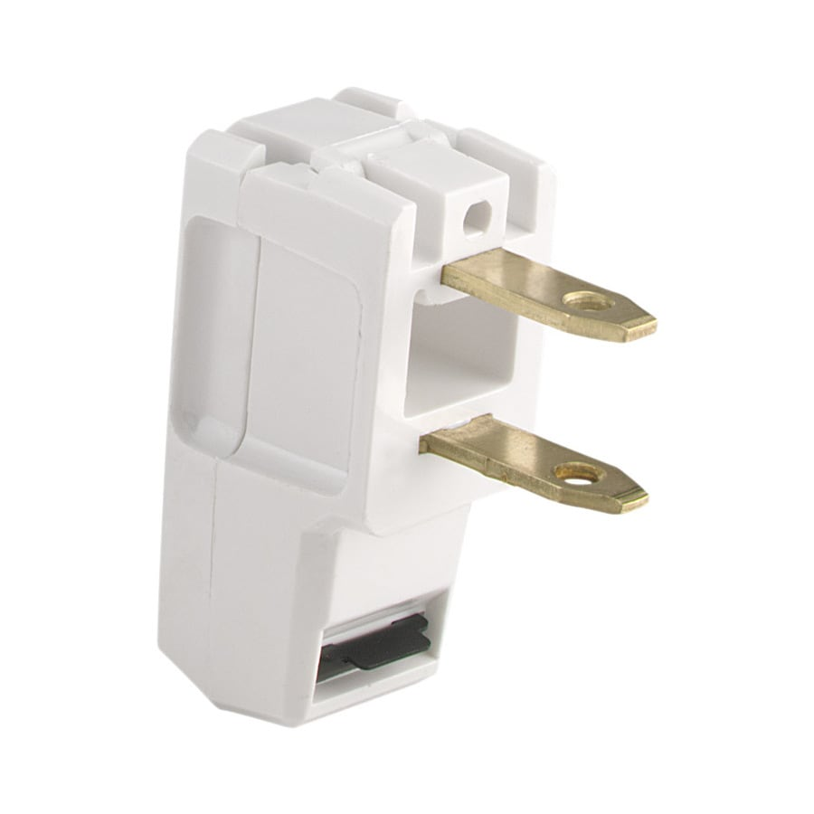 Shop Eaton 15-Amp 125-Volt White 2-Wire Plug at Lowes.com