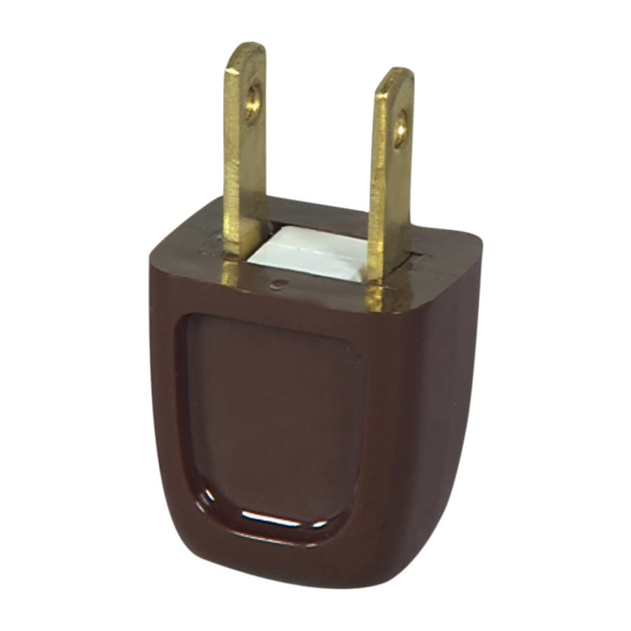 Eaton 10-Amp 125-Volt Brown 2-Wire Plug