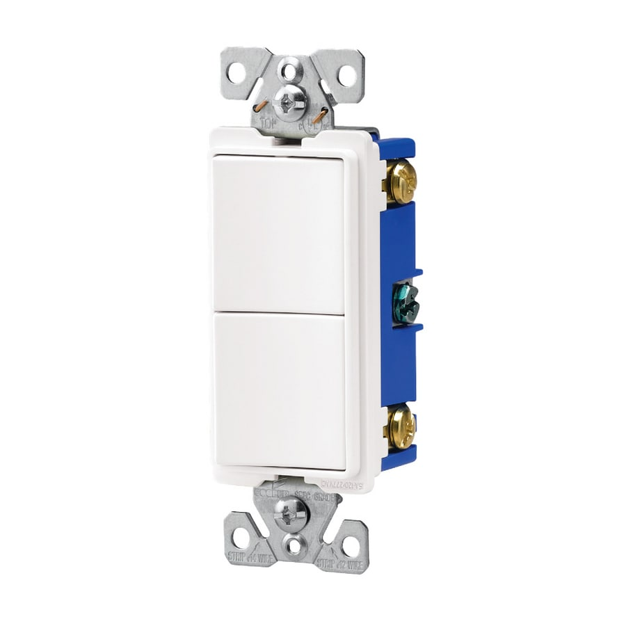 shop cooper wiring devices 15 amp white single pole switch at lowes com rh  lowes com