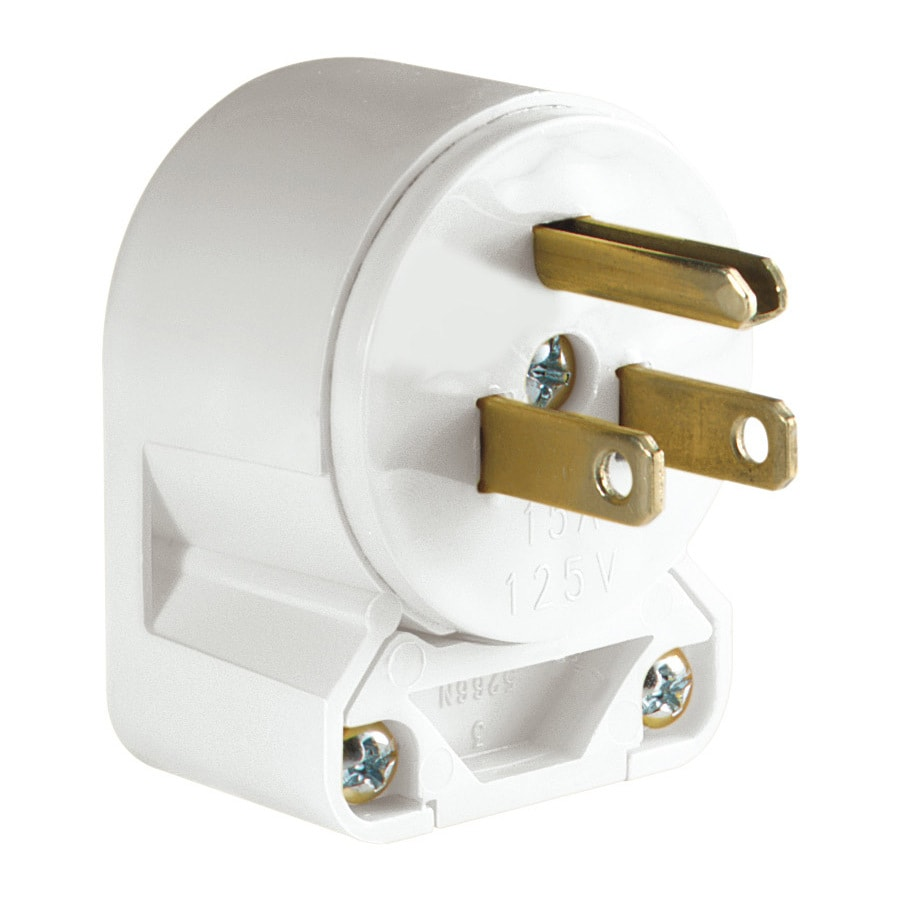Shop Electrical Plugs Connectors At Wiring An Outlet From Fuse Box Eaton 15 Amp 125 Volt White 3 Wire