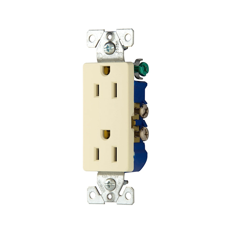 Eaton 15-Amp 125-Volt Almond Indoor Decorator Wall Outlet