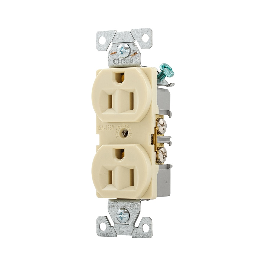 Eaton 10-Pack 15-Amp 125-Volt Ivory Indoor Duplex Wall Outlet