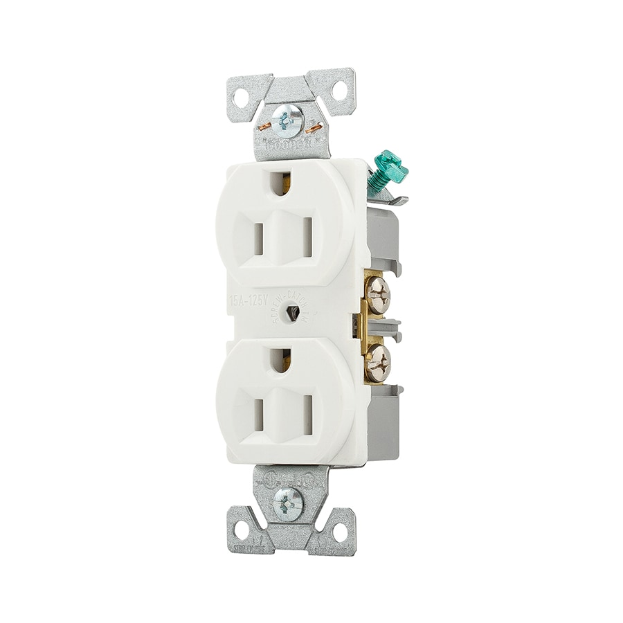 Eaton 10-Pack 15-Amp 125-Volt White Indoor Duplex Wall Outlet