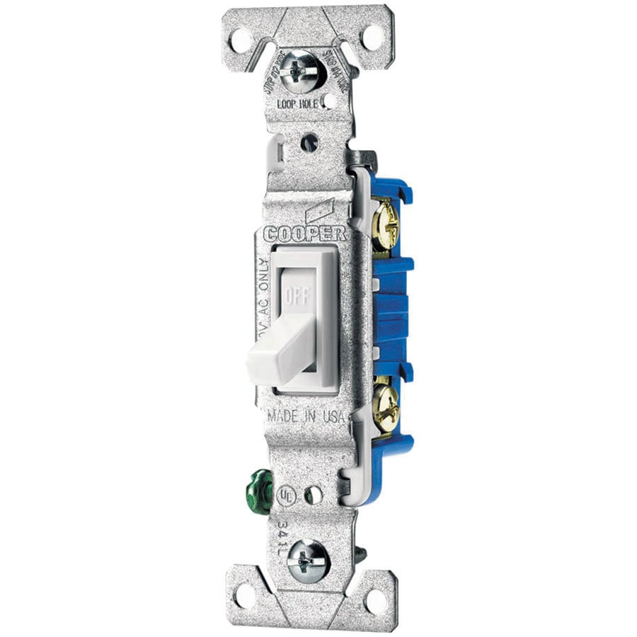 shop eaton 15 amp white toggle light switch at lowes com rh lowes com Cooper Dimmer Switches Leviton Light Switch Wiring Diagram
