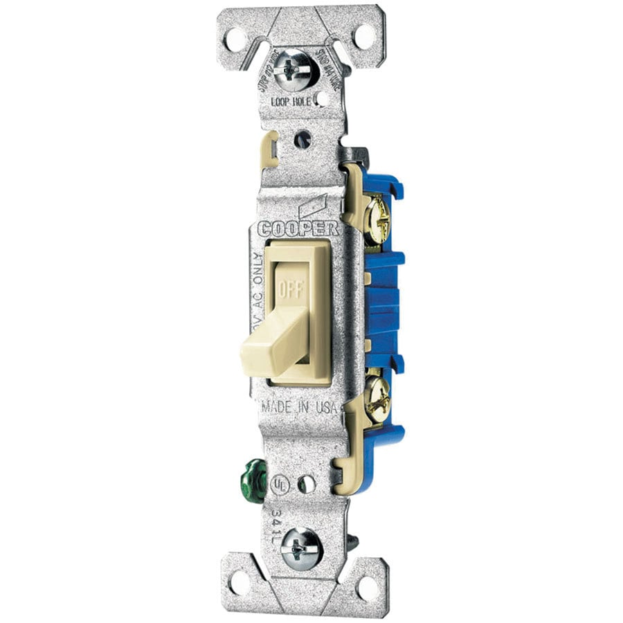 Eaton 15-Amp Single Pole Almond Indoor Toggle Light Switch