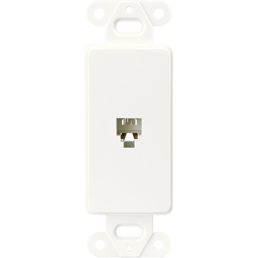 Eaton 1-Gang White Single Decorator Phone Wall Plate Insert