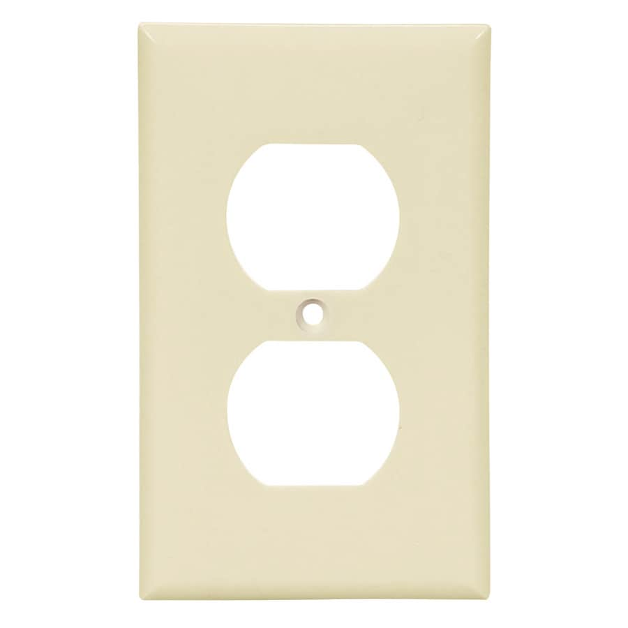 Cooper Wiring Devices 1-Gang Almond Round Wall Plate