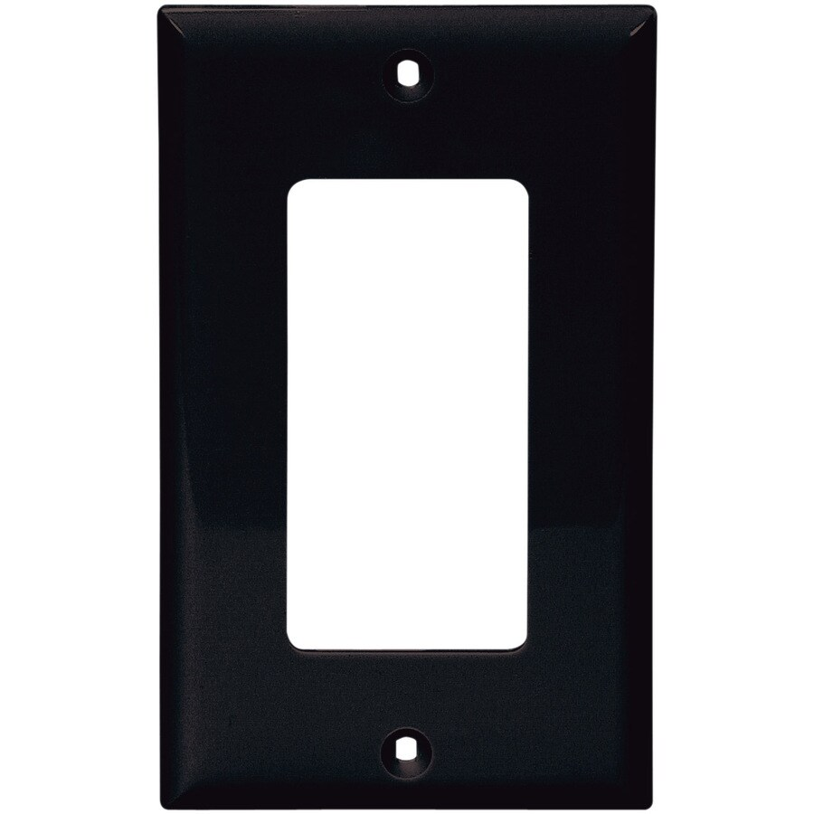 Eaton 1-Gang Black Decorator Wall Plate