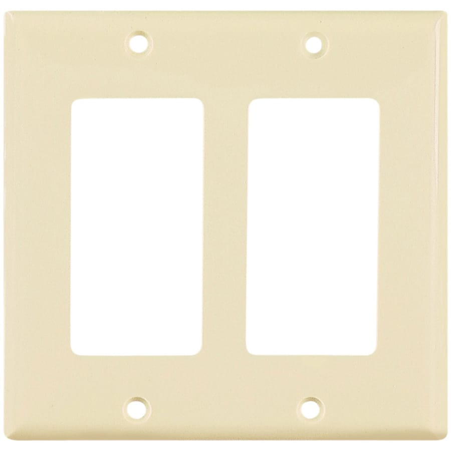Eaton 2-Gang Almond Decorator Wall Plate