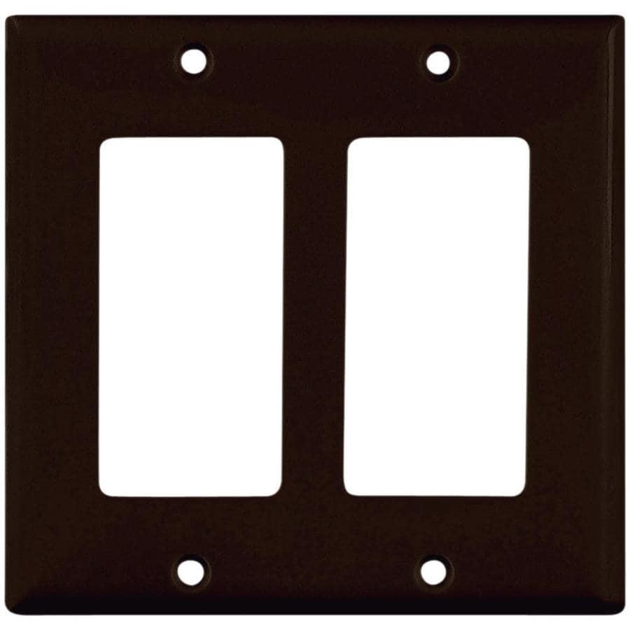 Eaton 2-Gang Black Decorator Wall Plate