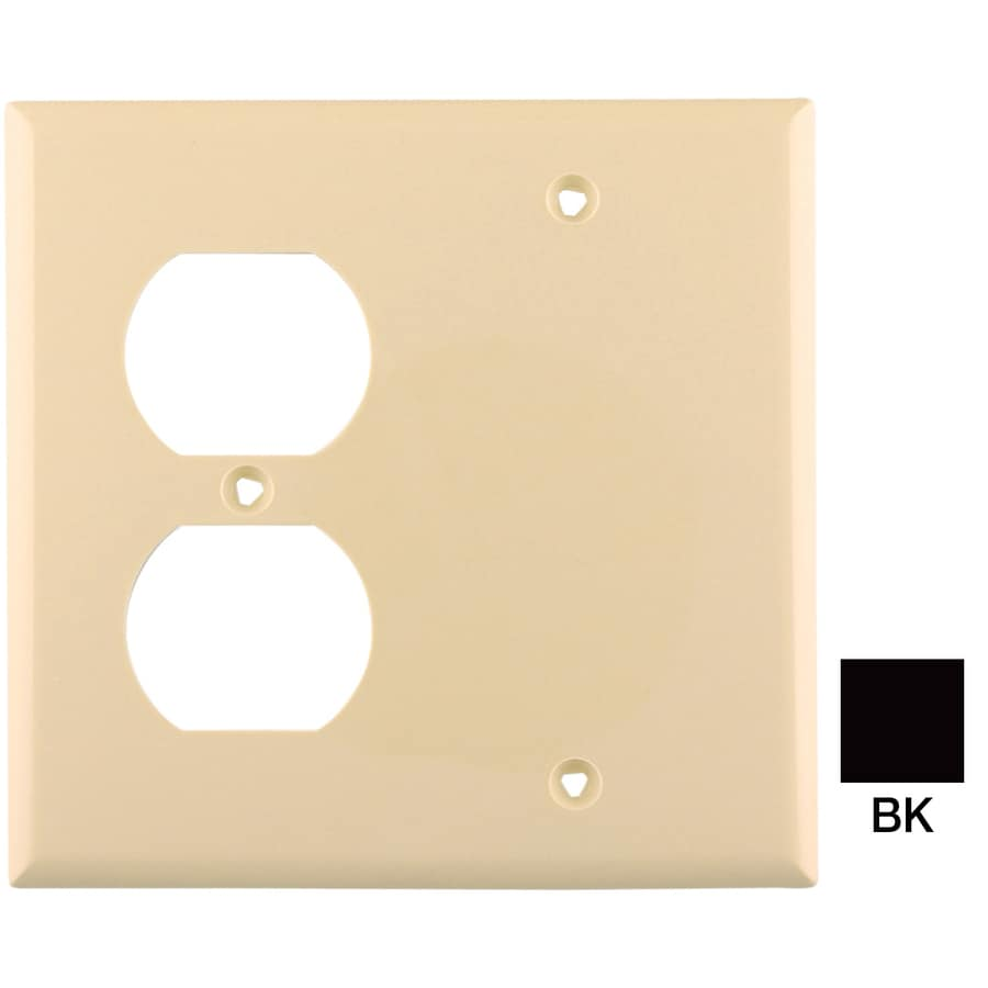 Eaton 2-Gang Black Wall Plate