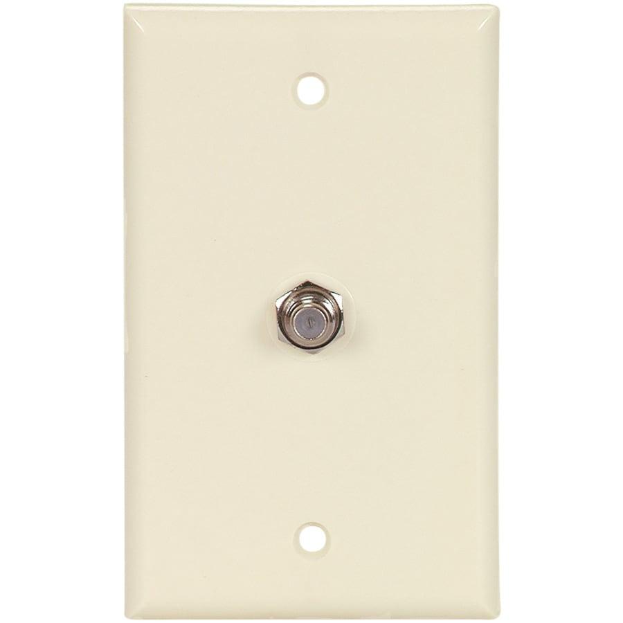 Eaton 1-Gang Almond Coaxial Wall Plate