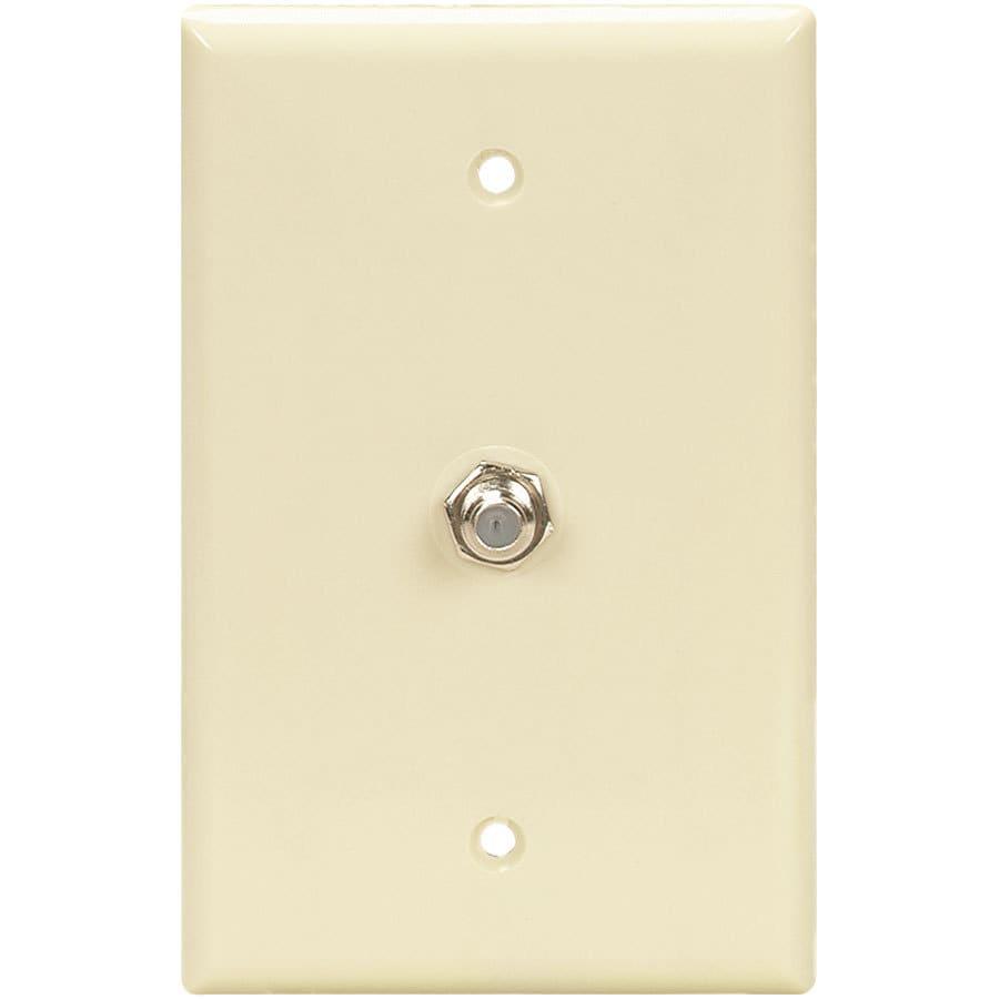 Eaton 1-Gang Almond Single Coaxial Wall Plate Adapter