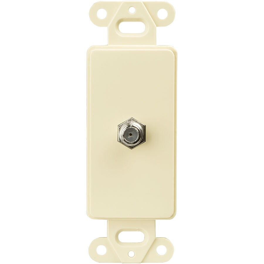 Eaton 1-Gang Almond Single Decorator Coaxial Wall Plate Insert Adapter