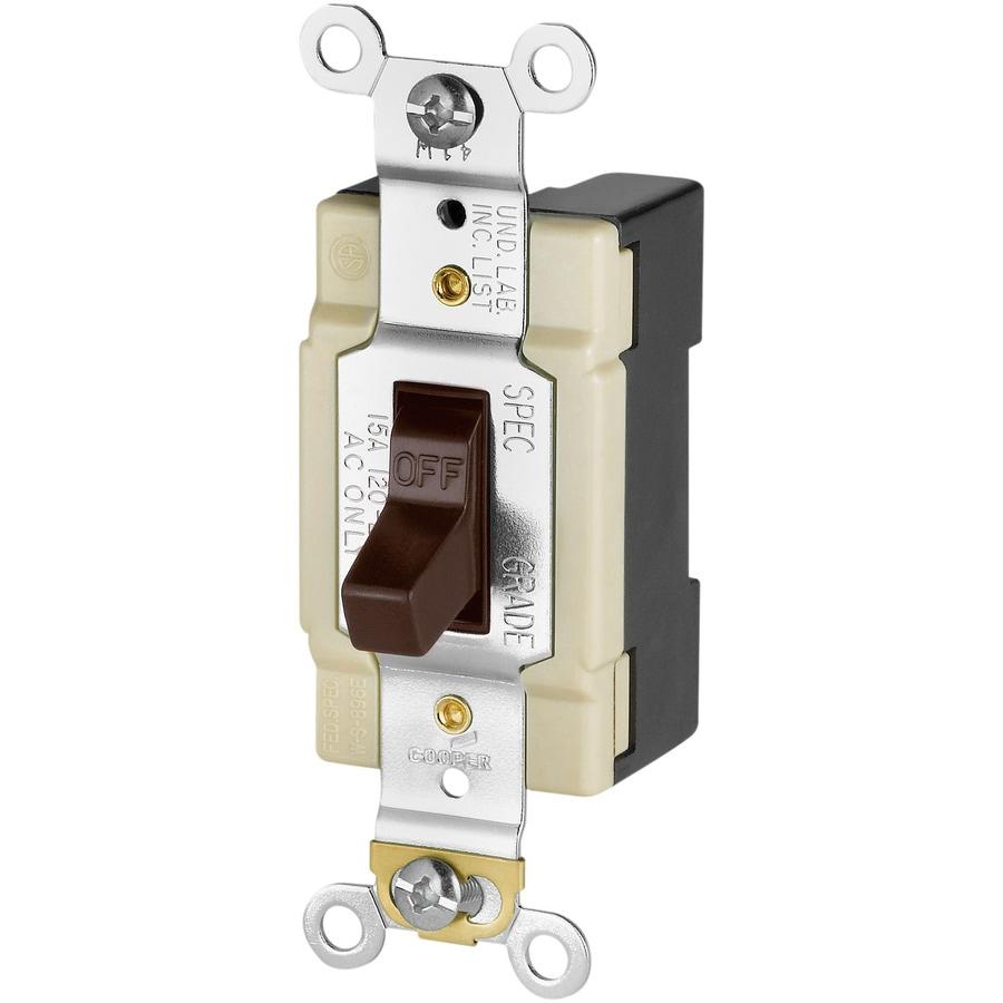 Eaton Single Pole Brown Light Switch