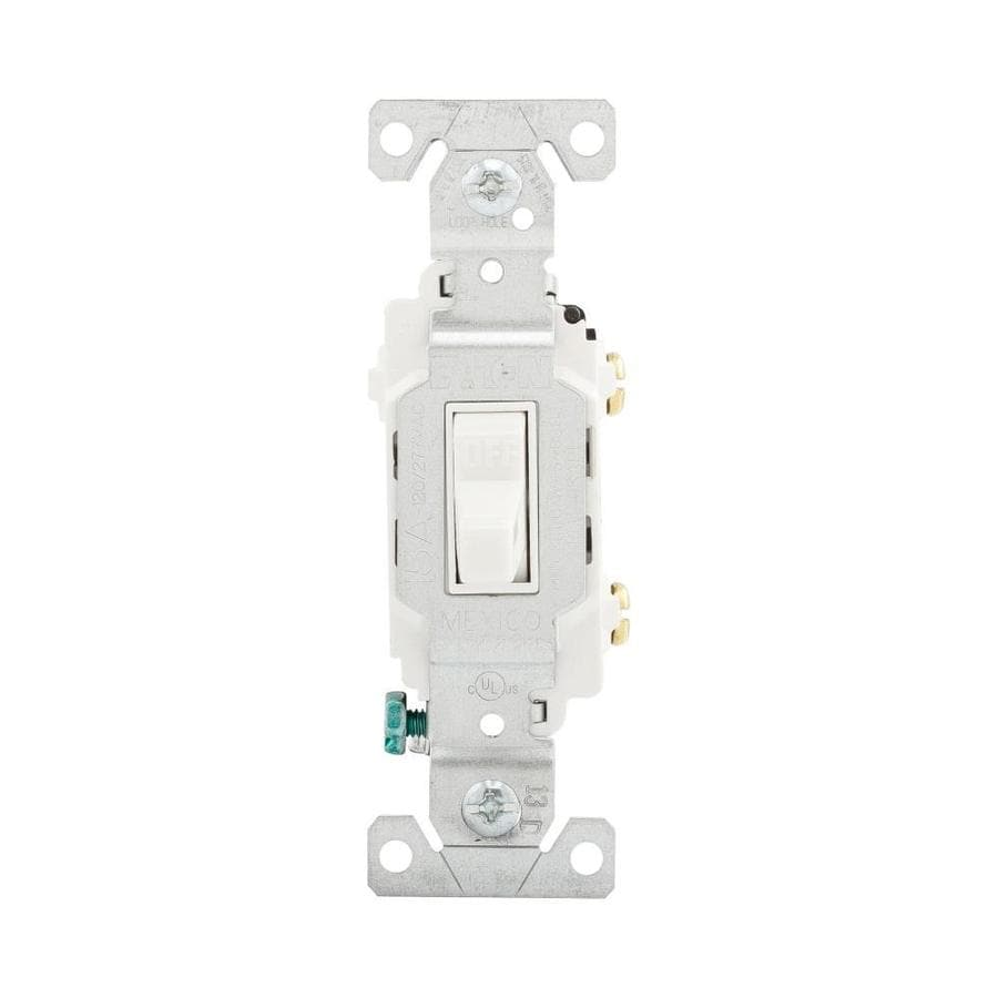 Eaton Single Pole White Light Switch