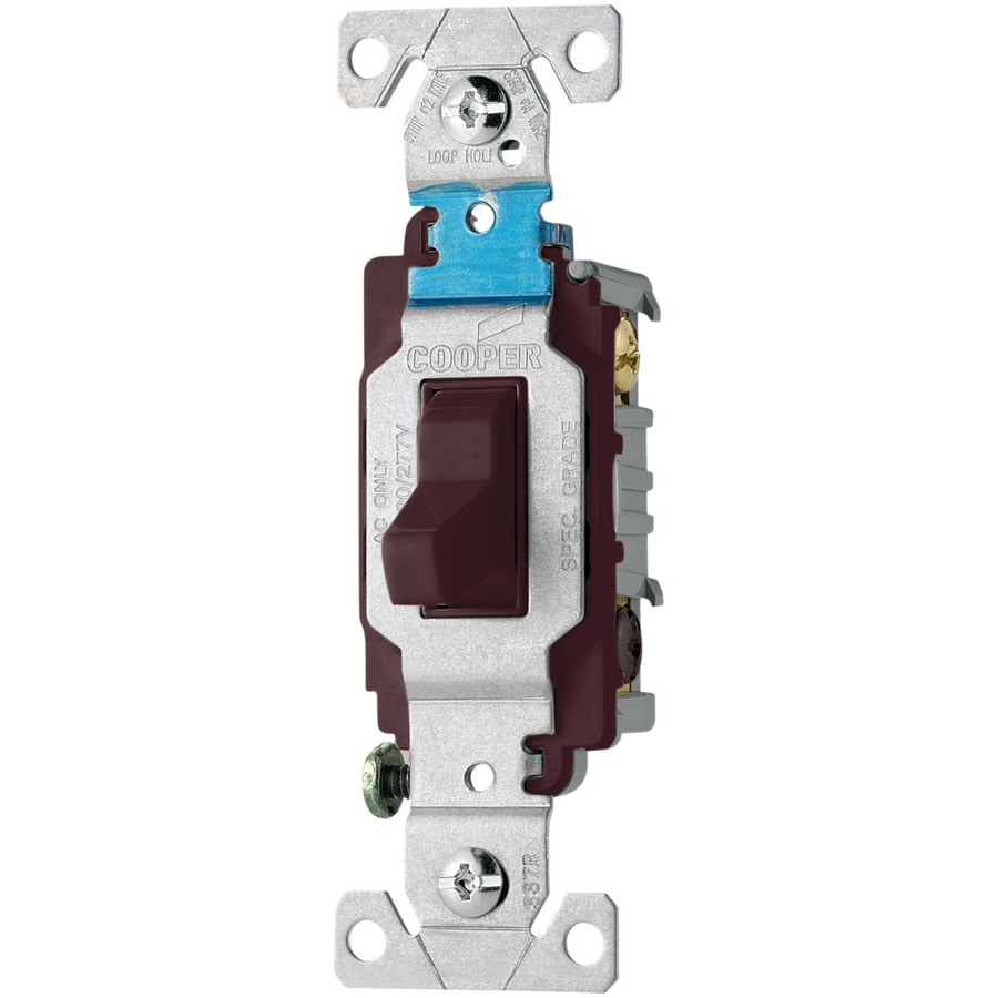 Shop Eaton -Switch Double Pole Brown Light Switch at Lowes.com