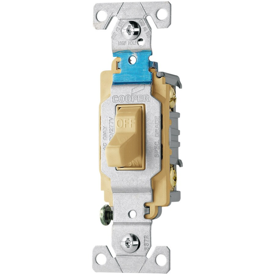 Eaton Double Pole Ivory Light Switch