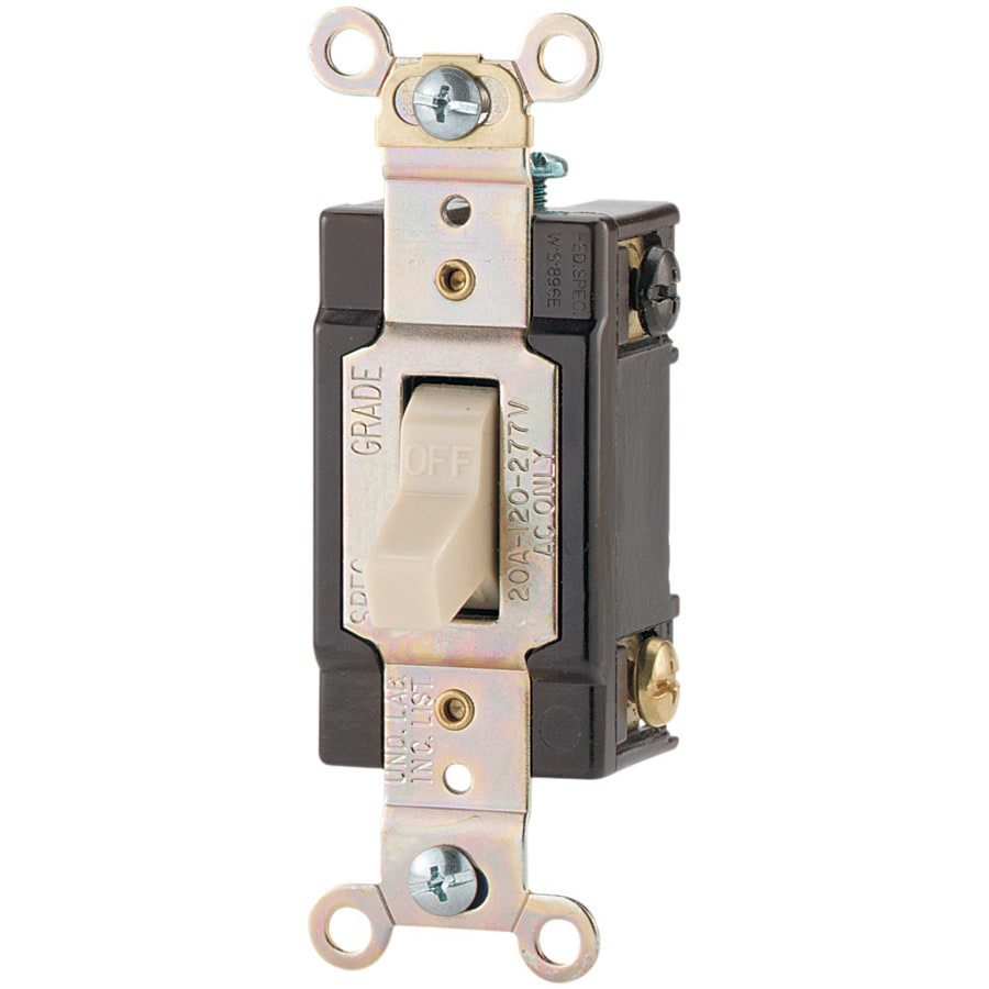Shop Eaton Single Pole Ivory Light Switch at Lowes.com